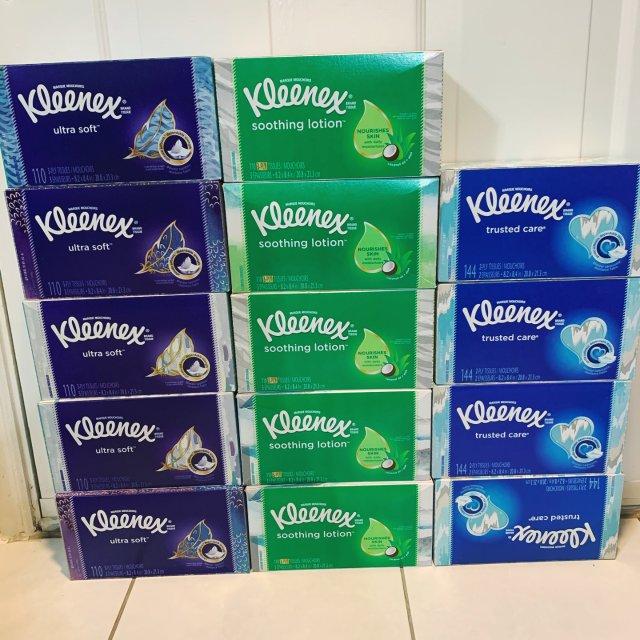 撸啊撸 Kleenex $1.50...