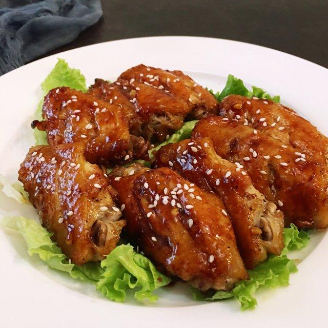 ✨鲜嫩多汁 |蒜香蜜汁烤鸡翅✨