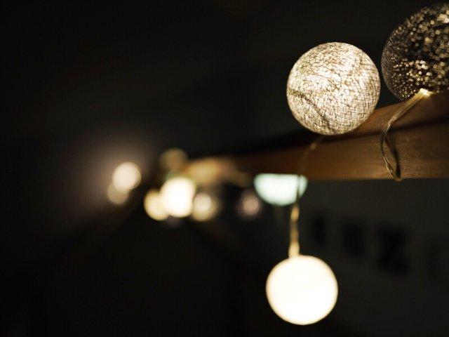 兒童房裝飾- 浪漫氣氛的棉線球LED燈💓