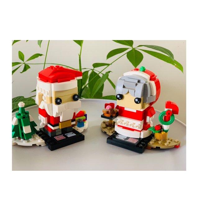 超萌的乐高圣诞小人!