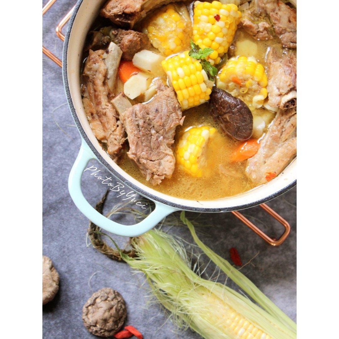 北鼎珐琅铸铁锅|排骨玉米汤🌽