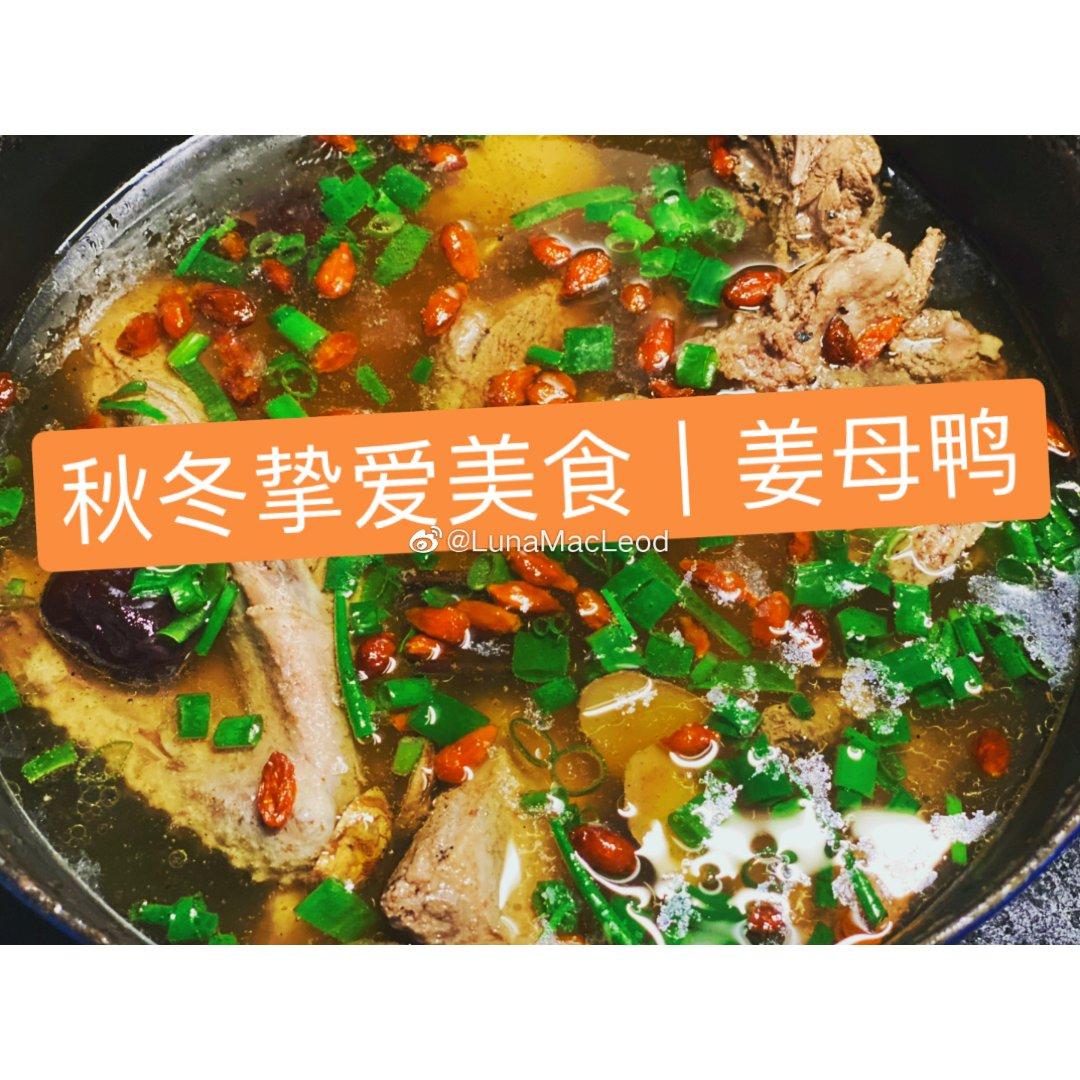 秋冬治愈美食——【姜母鸭】