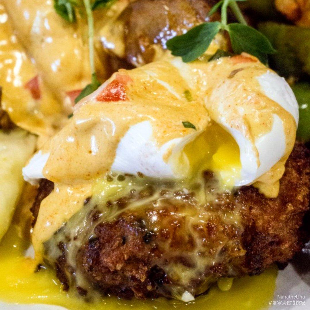 多伦多Branch🍳蟹肉饼和流心蛋...