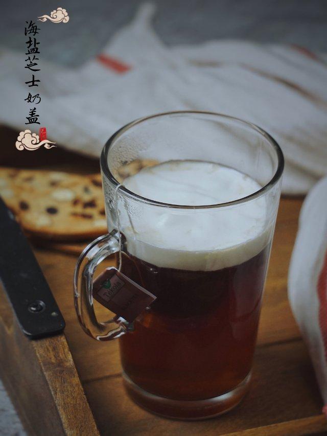 简易海盐芝士奶盖红茶做法