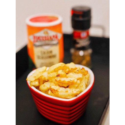 自制现切的空气炸锅薯条/厚切波浪薯片,薯条摆摊自由🍟