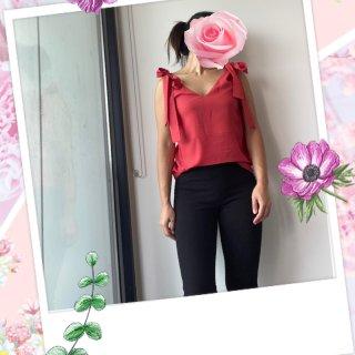 Feel For You V-Neck Top - Red - Belle & Bloom
