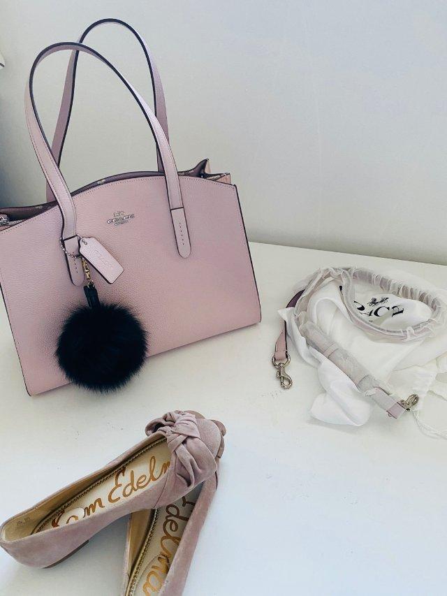 💕包包鞋子一个色之粉色少女心🎀