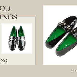 Gabriella Black - Calfskin Patent Leather Loafers   MIRTA