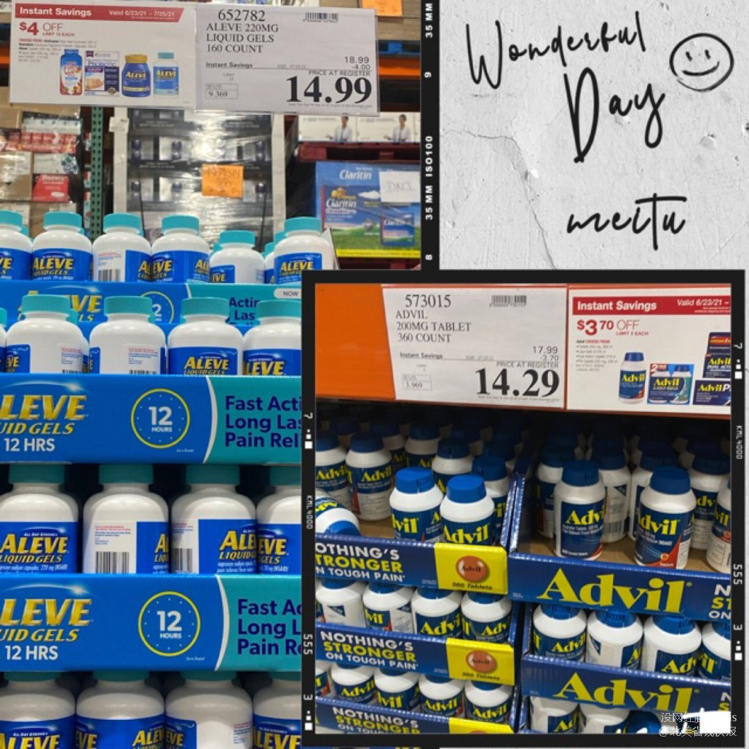 Aleve Naproxen Sodium 220 mg. Pain Reliever/Fever Reducer, 160 Liquid Gels| Costco