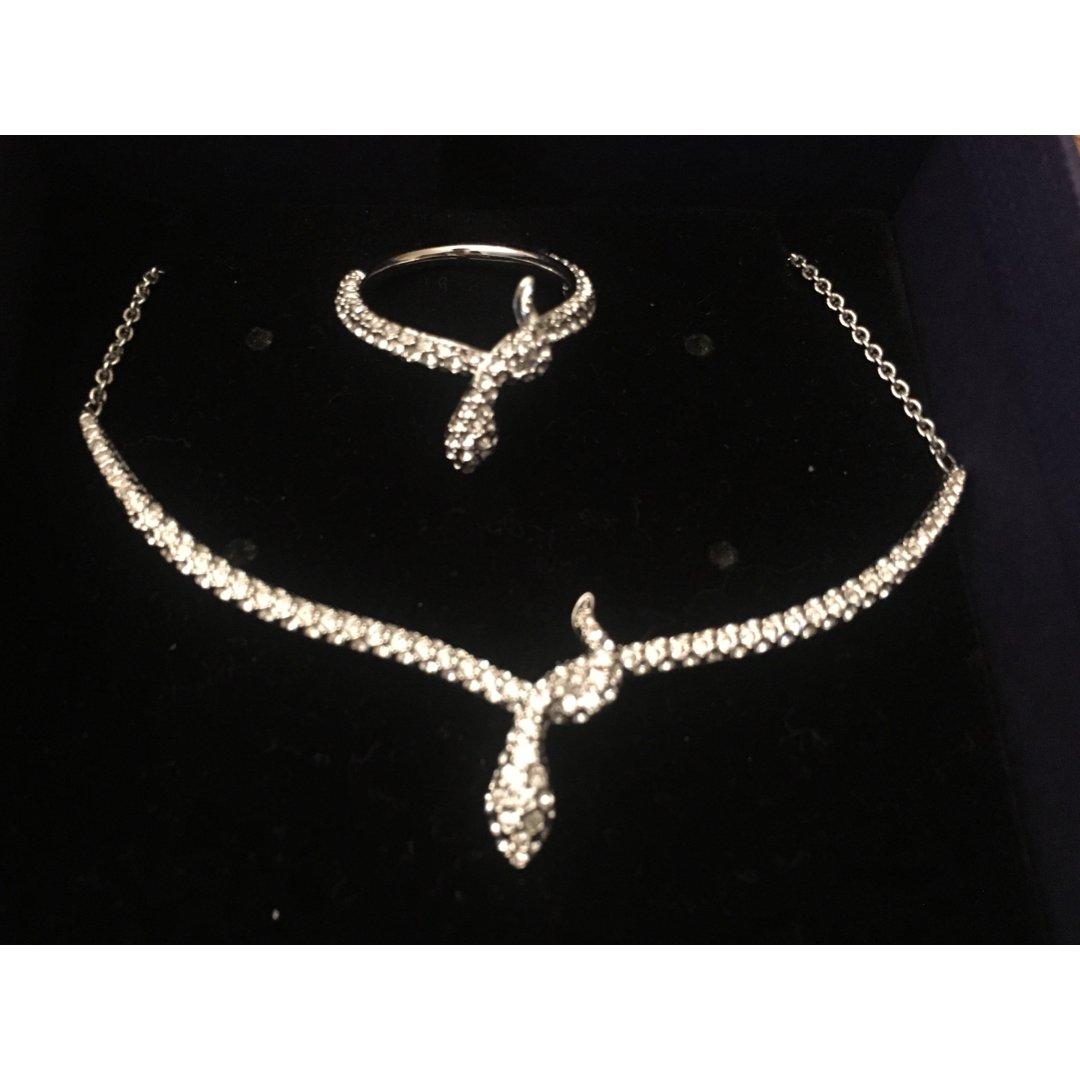 施华洛世奇蛇形戒指和项链