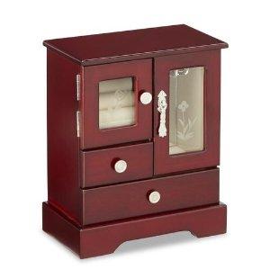 $6Jaclyn Smith Cherry Glass Door Upright Jewelry Chest @ Sears.com