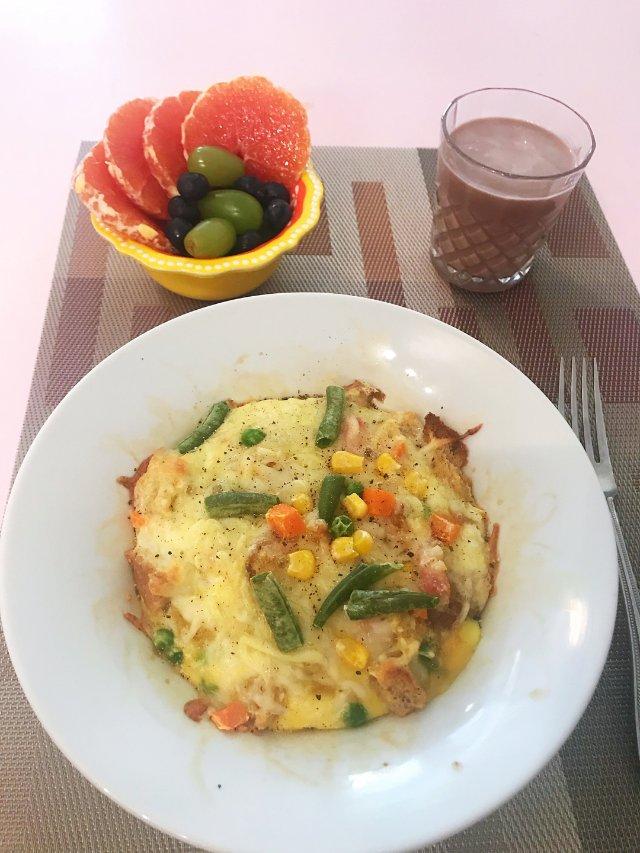 上班族早餐💗烤焗饭