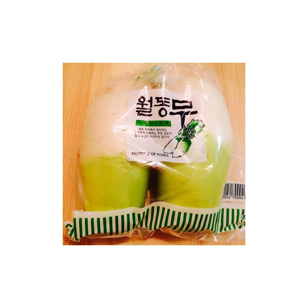 这个韩国的萝卜真的特别好吃,像水果...