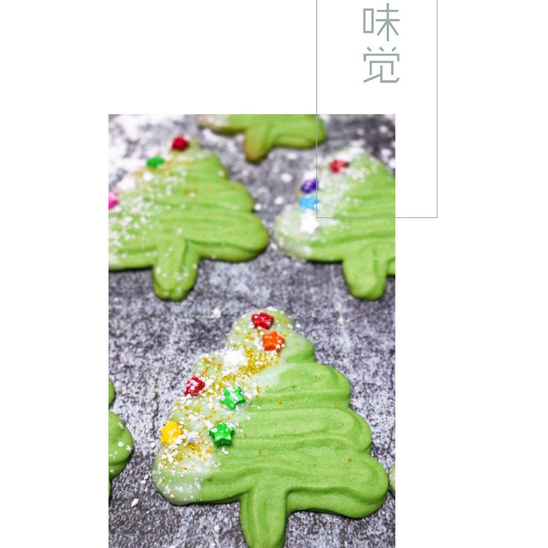 圣诞树抹茶曲奇饼干