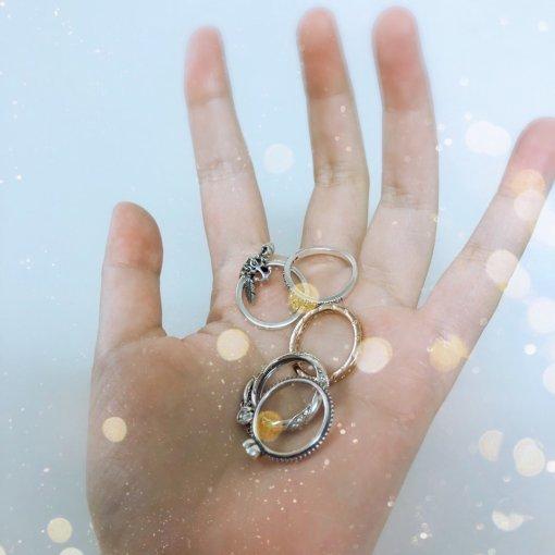 戒指控的潘多拉戒指,叠戴超好看。