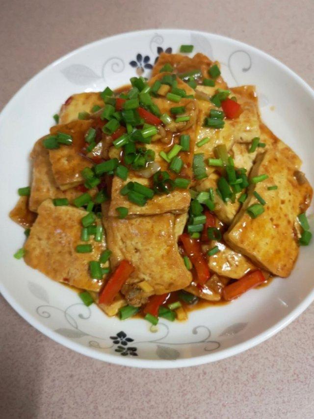 香煎焖豆腐