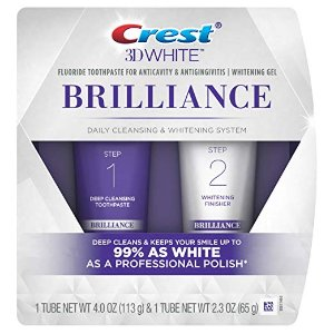 $9Crest 3D White Brilliance Toothpaste and Whitening Gel System
