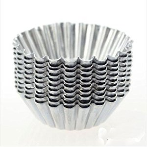 Amazon.com   Dealglad® 20pcs Egg Tart Aluminum Cupcake Cake Cookie Mold Lined Mould Tin Baking Tool: Swizzle Sticks