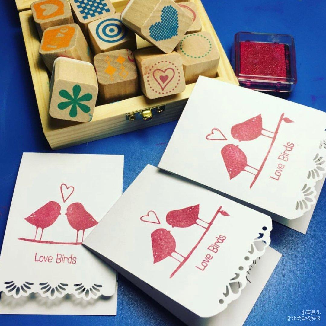 自己来做情人节小卡片