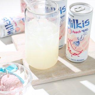 蜜桃牛奶苏打水...