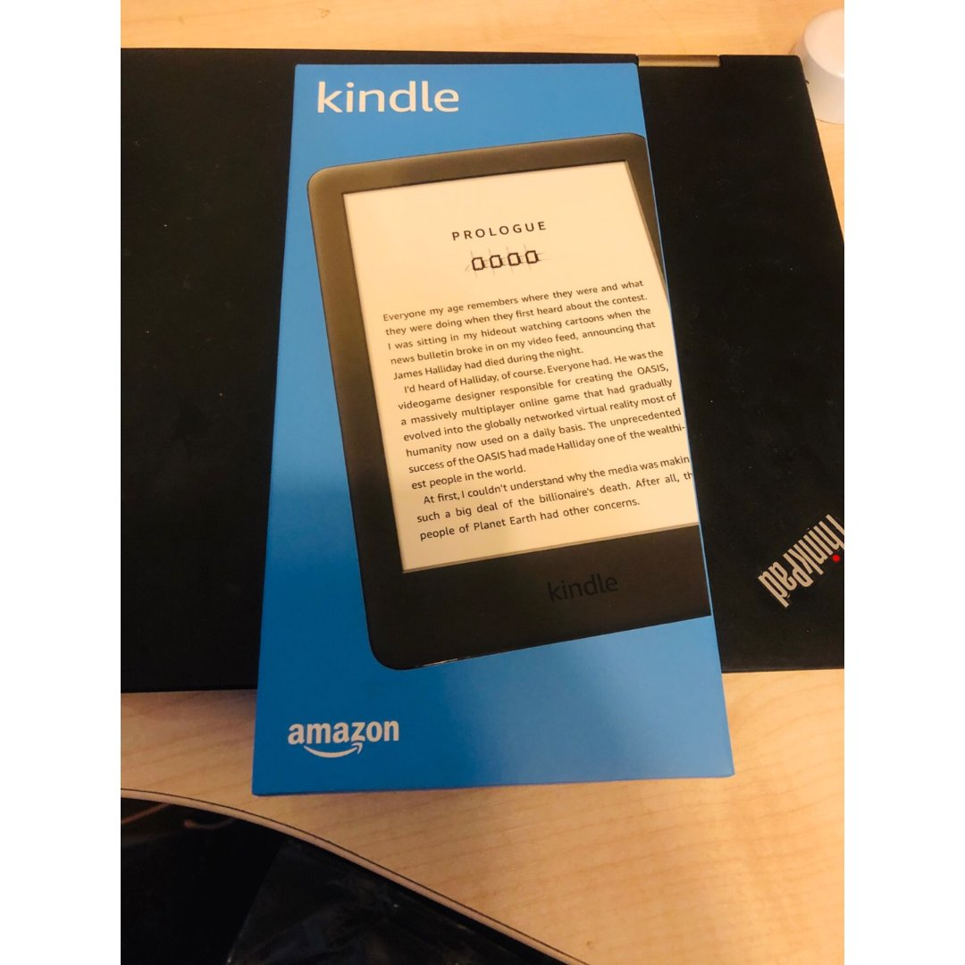 😆省钱君送的Kindle到啦!感谢哇😍~...