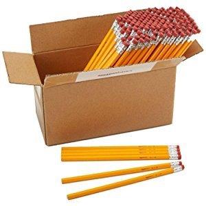$6AmazonBasics Wood-cased Pencils - #2 HB - Box of 144