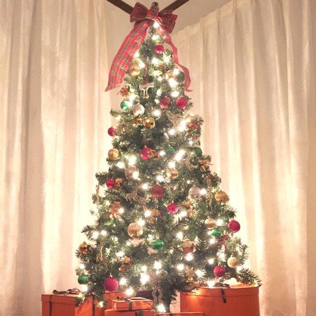 黑五时Target买的6尺带灯圣诞...