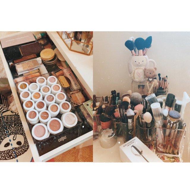 整理梳妆台✨终于把我的所有化妆品都...