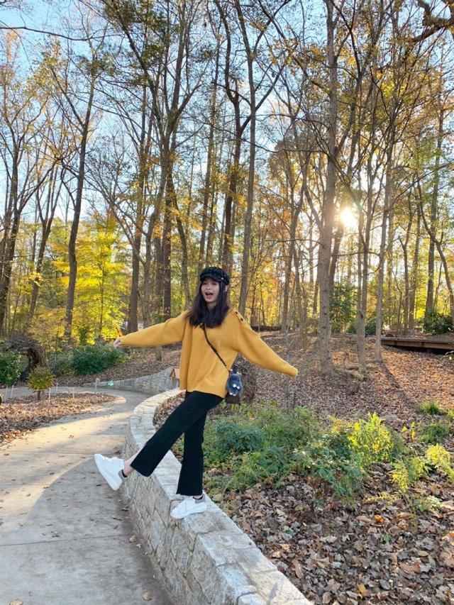 秋天🍂橘黄色毛衣穿搭