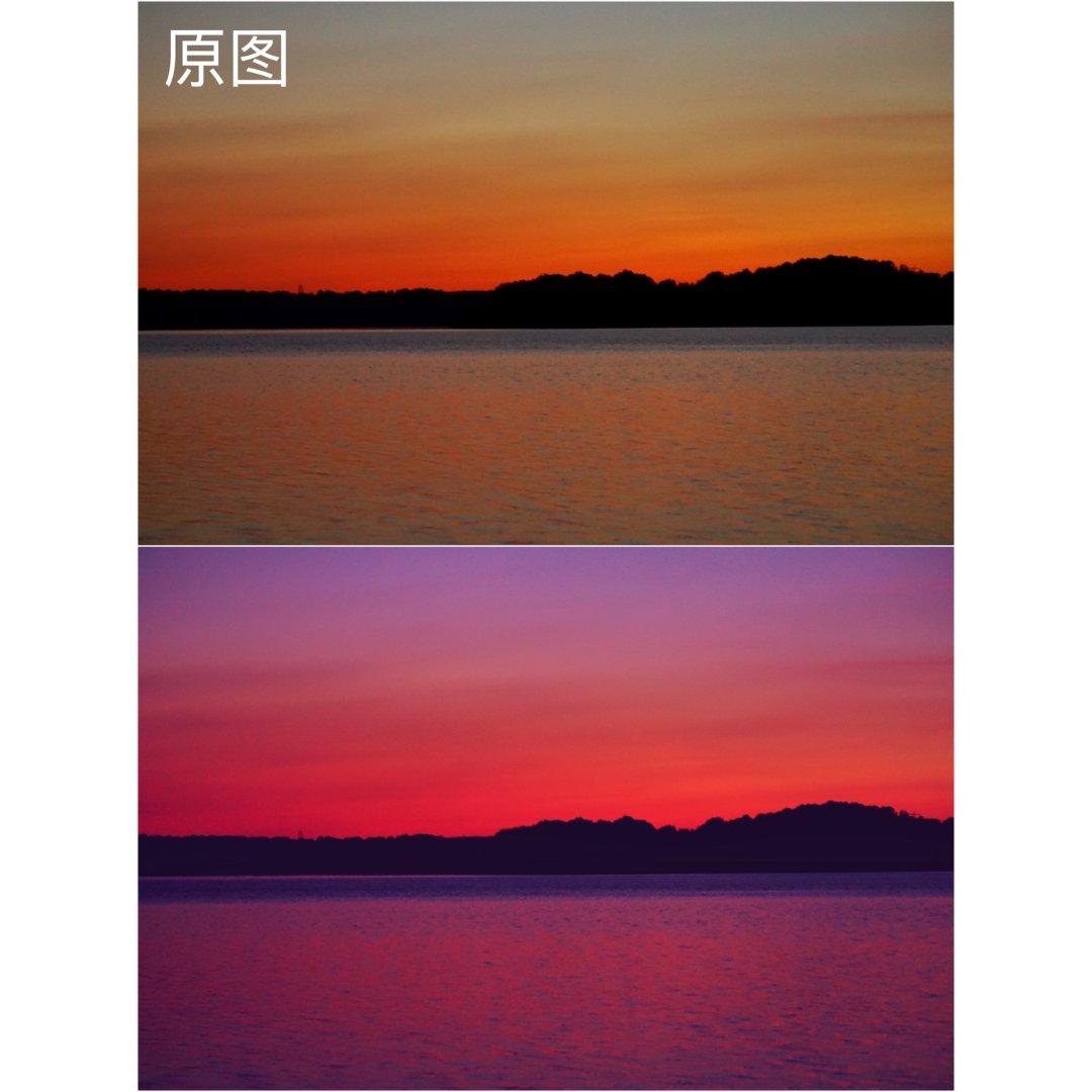 📷   拿几张晚霞照片练习紫霞滤镜