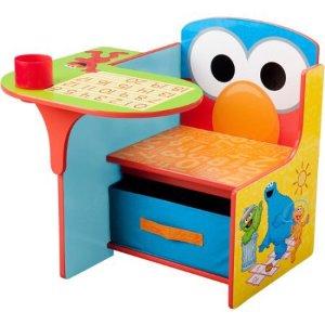 $32.99Delta Children 芝麻街图案儿童木质连桌椅带收纳盒