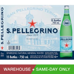 San Pellegrino Sparkling Natural Mineral Water 25.3 oz. 15-pack