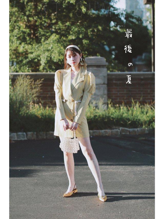夏天的尾巴   腰带裙的另一种穿法