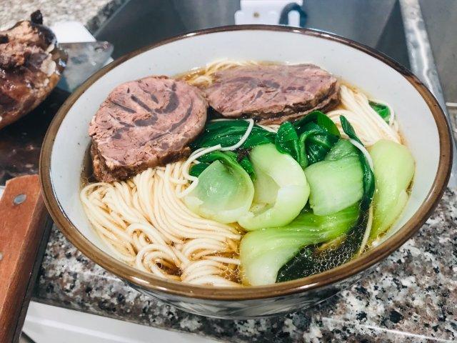 instant pot卤牛肉面