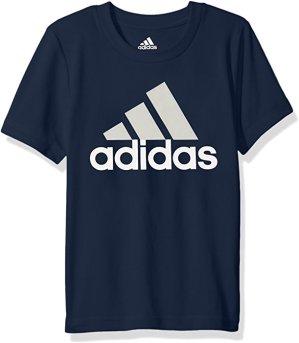 $7.29adidas 阿迪达斯男童短袖Logo T恤 Navy深蓝色