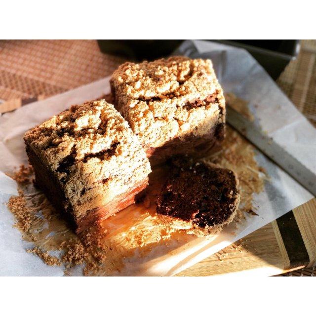 摩卡巧克力花生酥全麦快手面包