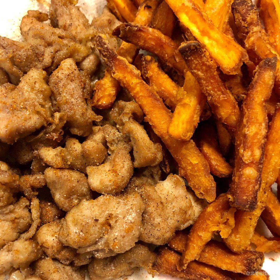 中式炸雞西式薯條