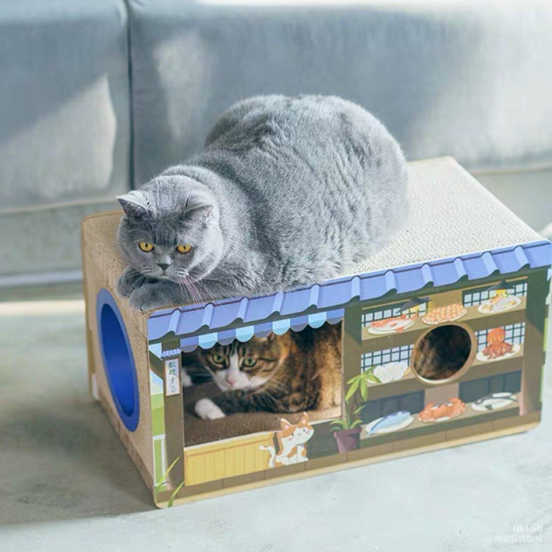 猫窝+抓板一体小房子🥳🥳...
