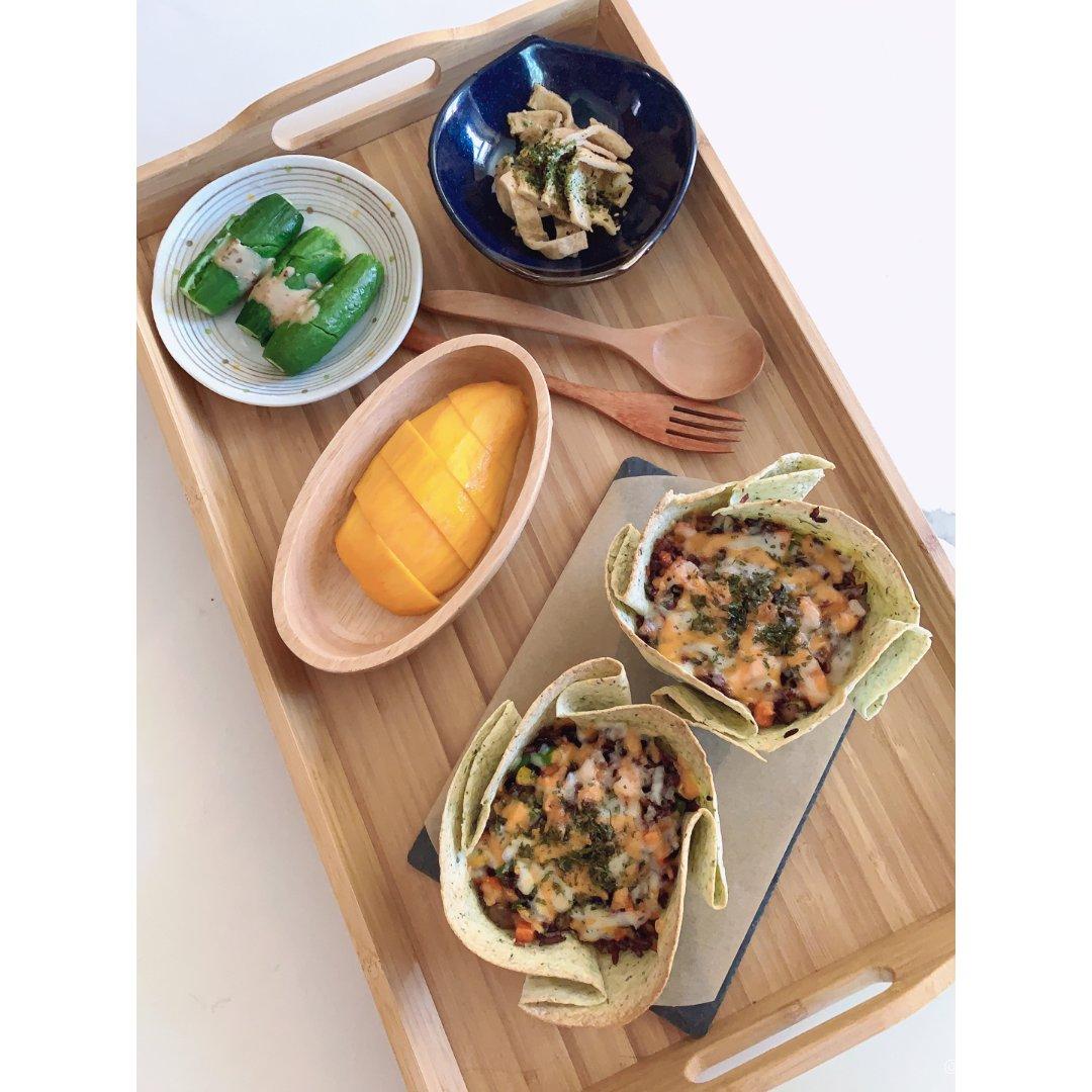 法兰西斯午餐系列之———三文鱼饭脆脆杯