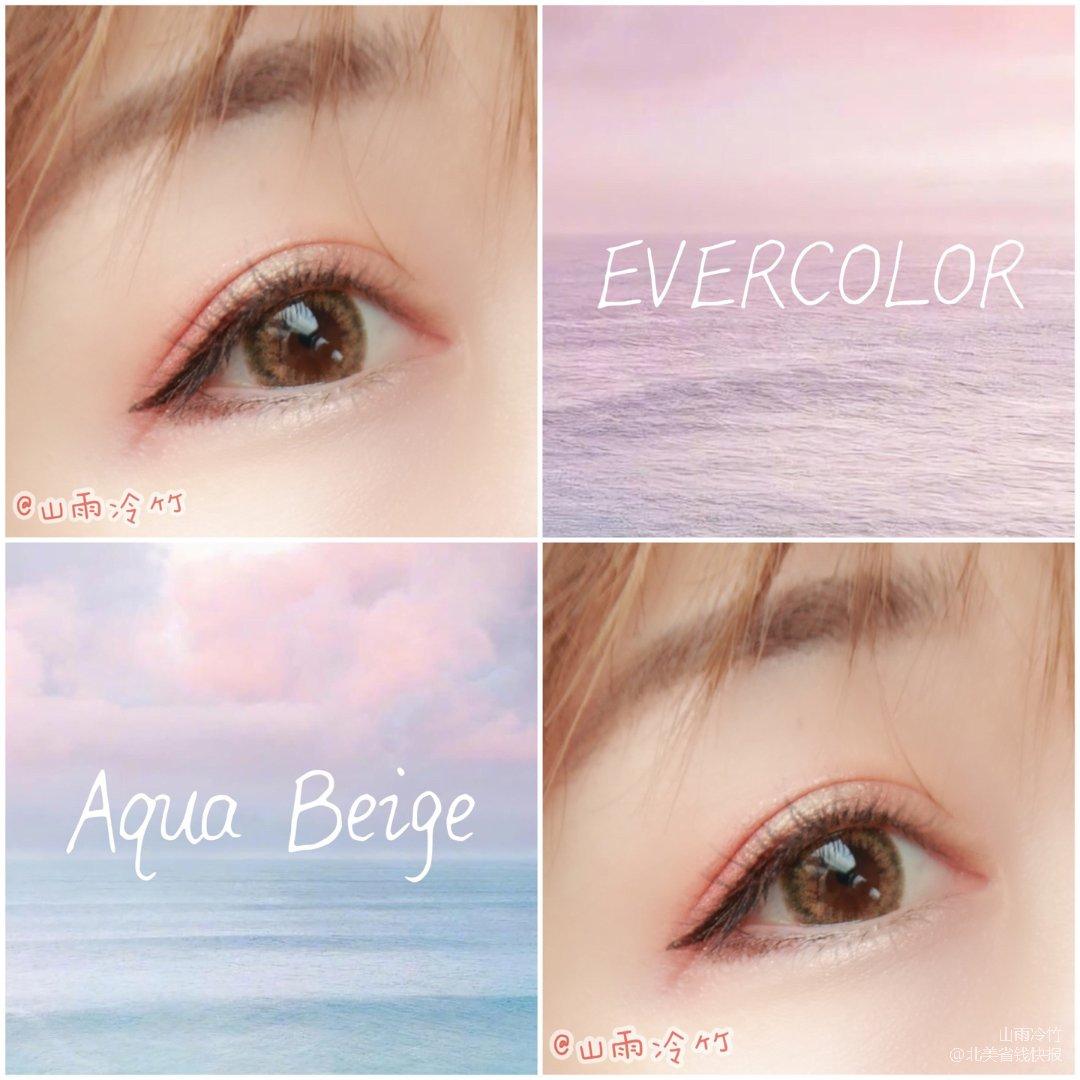 美瞳试色 Evercolor Aq...