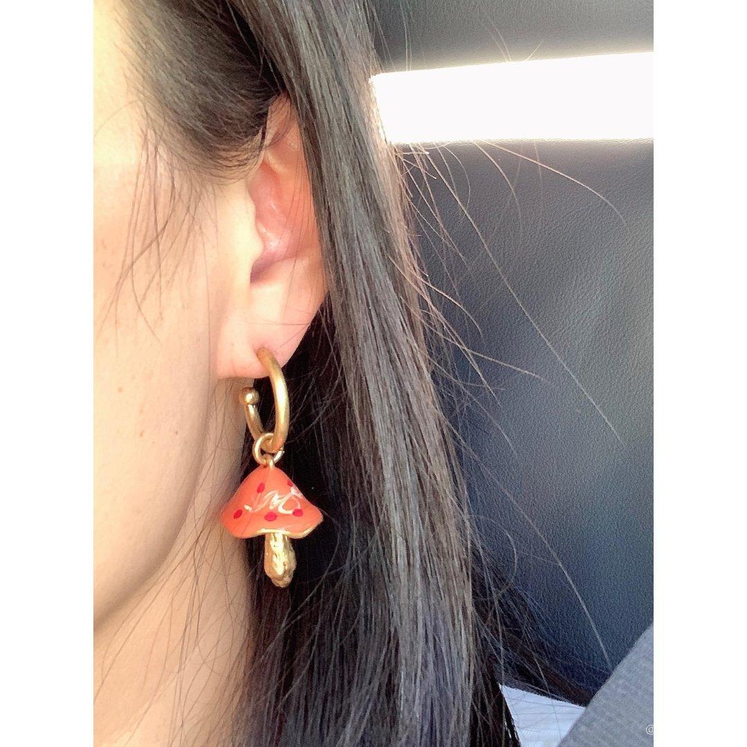 Zara蘑菇耳环