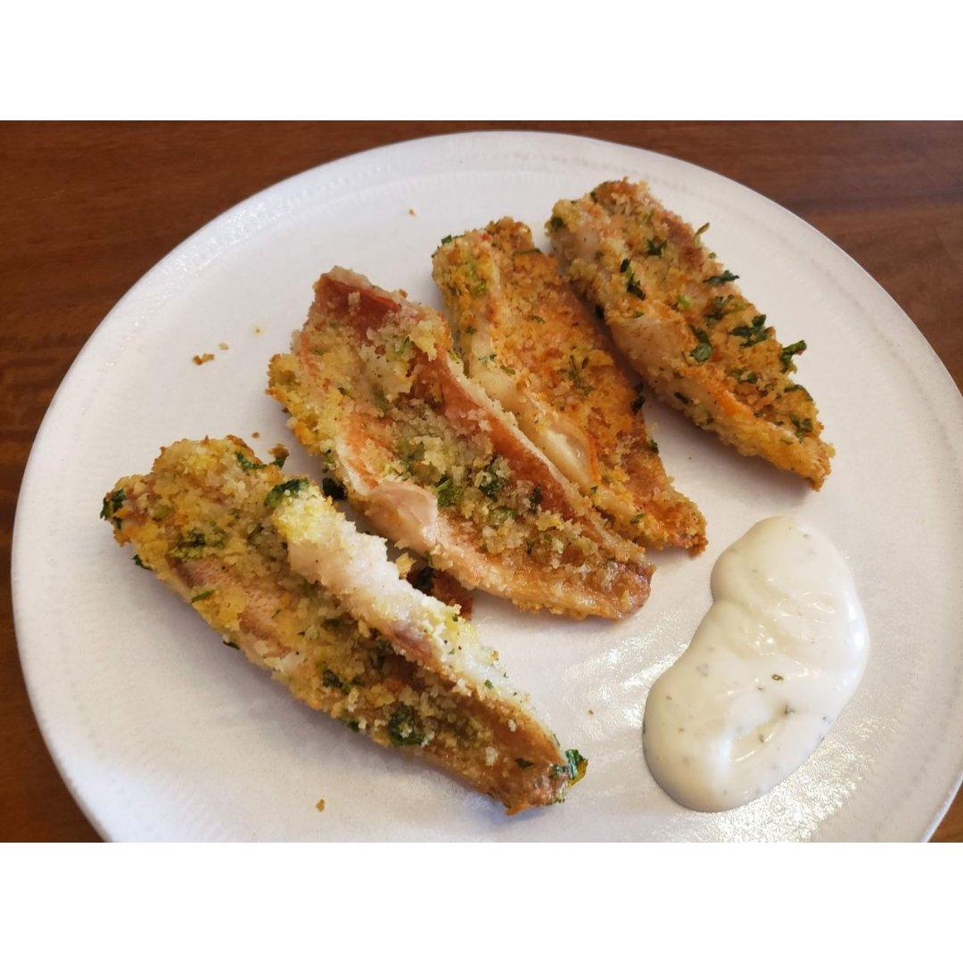 厨房小白也能做的快手菜之香煎面包屑鱼排
