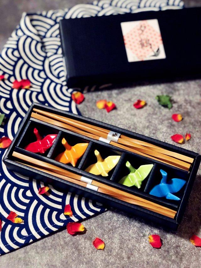 超美的千纸鹤筷子架