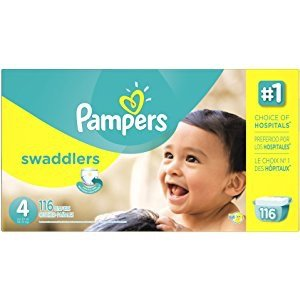 $29Pampers Swaddlers Disposable Diapers Size 4, 104 Count, GIANT @ Amazon