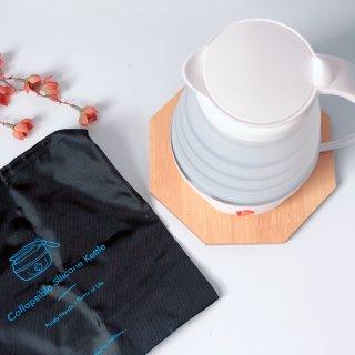 颜值和实用度都满分的Nathome可折叠电热水壶