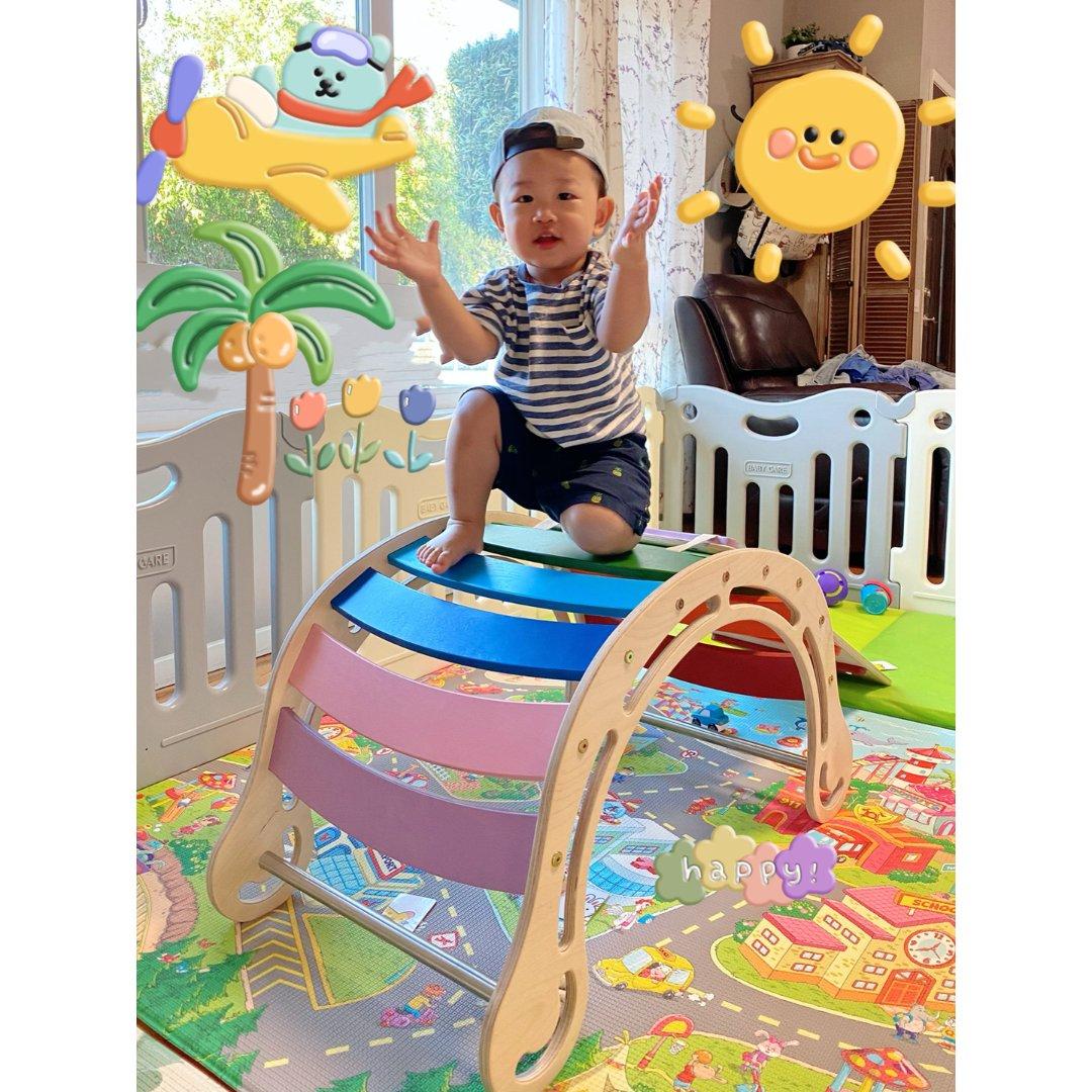 小宝宝心爱的大玩具=大宝宝的小确幸🎉🎉