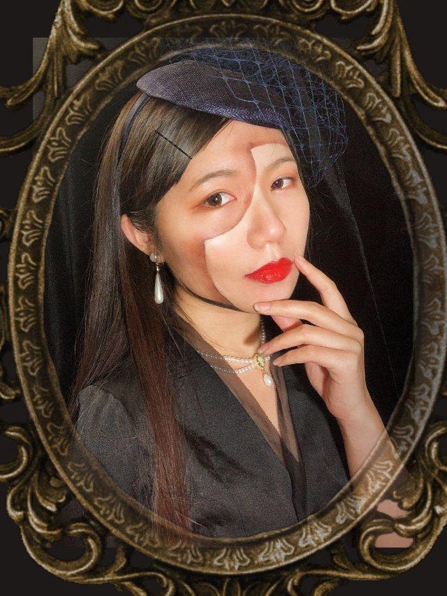万圣节🎃妆,新手画皮面具(学习自ins)