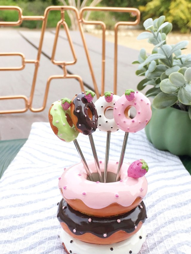 🍩萌爆少女心的甜甜圈水果叉🍩