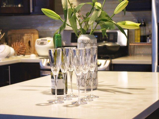水晶玻璃香槟杯+去除标签残留小方法
