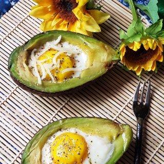一日三餐吃什么之---牛油果烤鸡蛋...